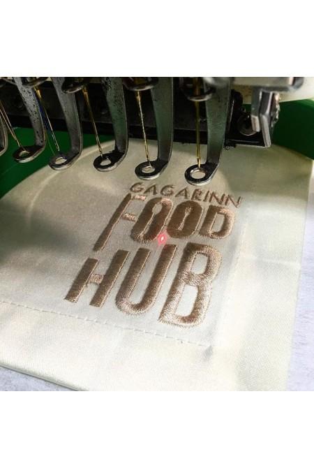 """Вышивка """"Gagarinn Food Hub"""""""