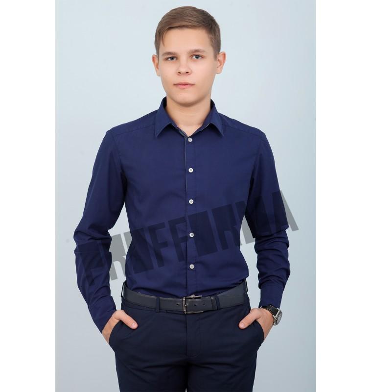 """Рубашка для персонала синяя """"Классика"""""""