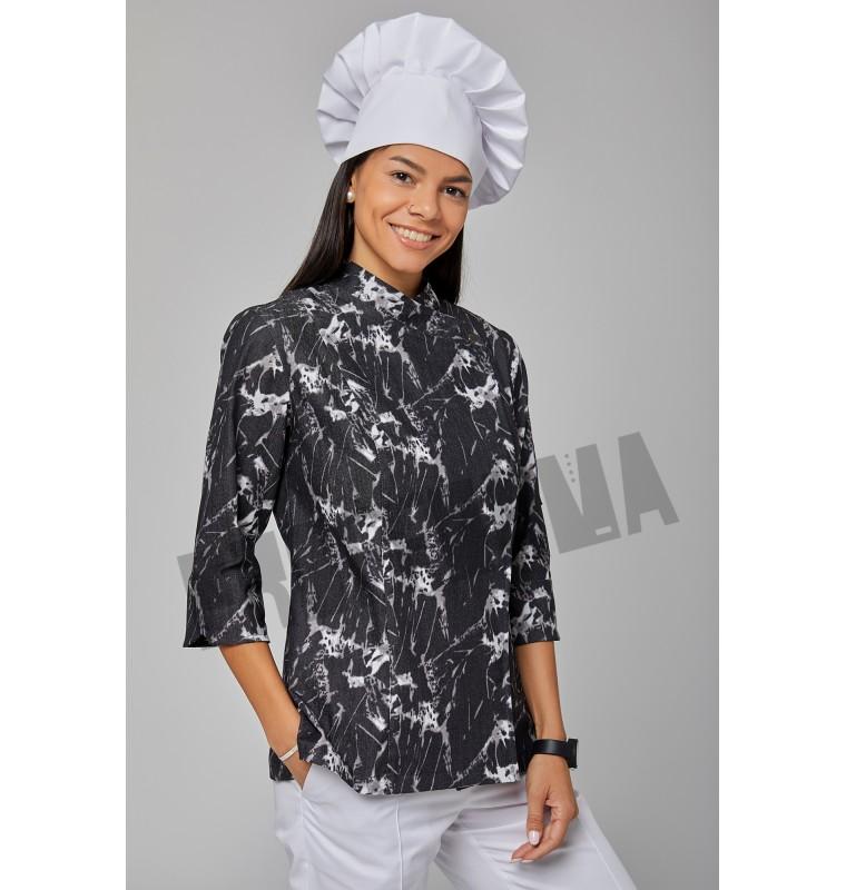 """Китель повара женский """"Мрамор"""""""