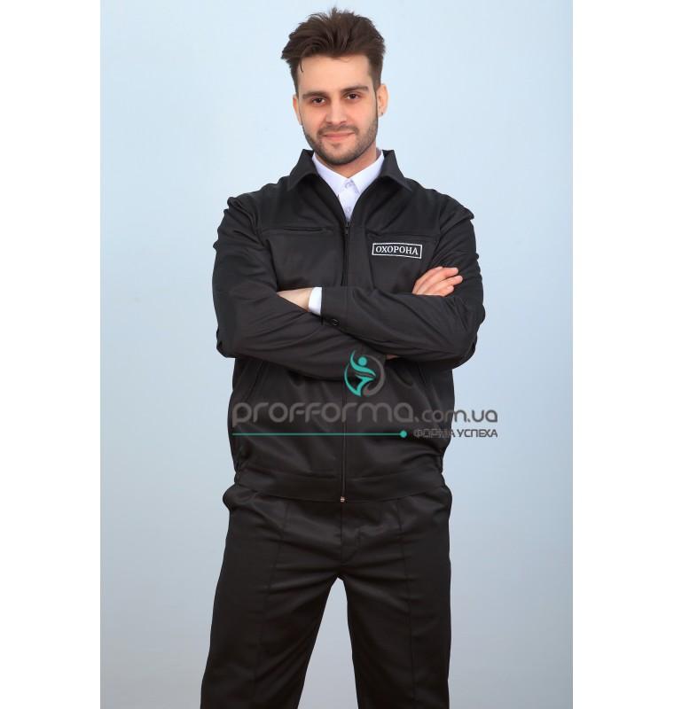 """Куртка мужская черная для охраны """"Охрана"""""""